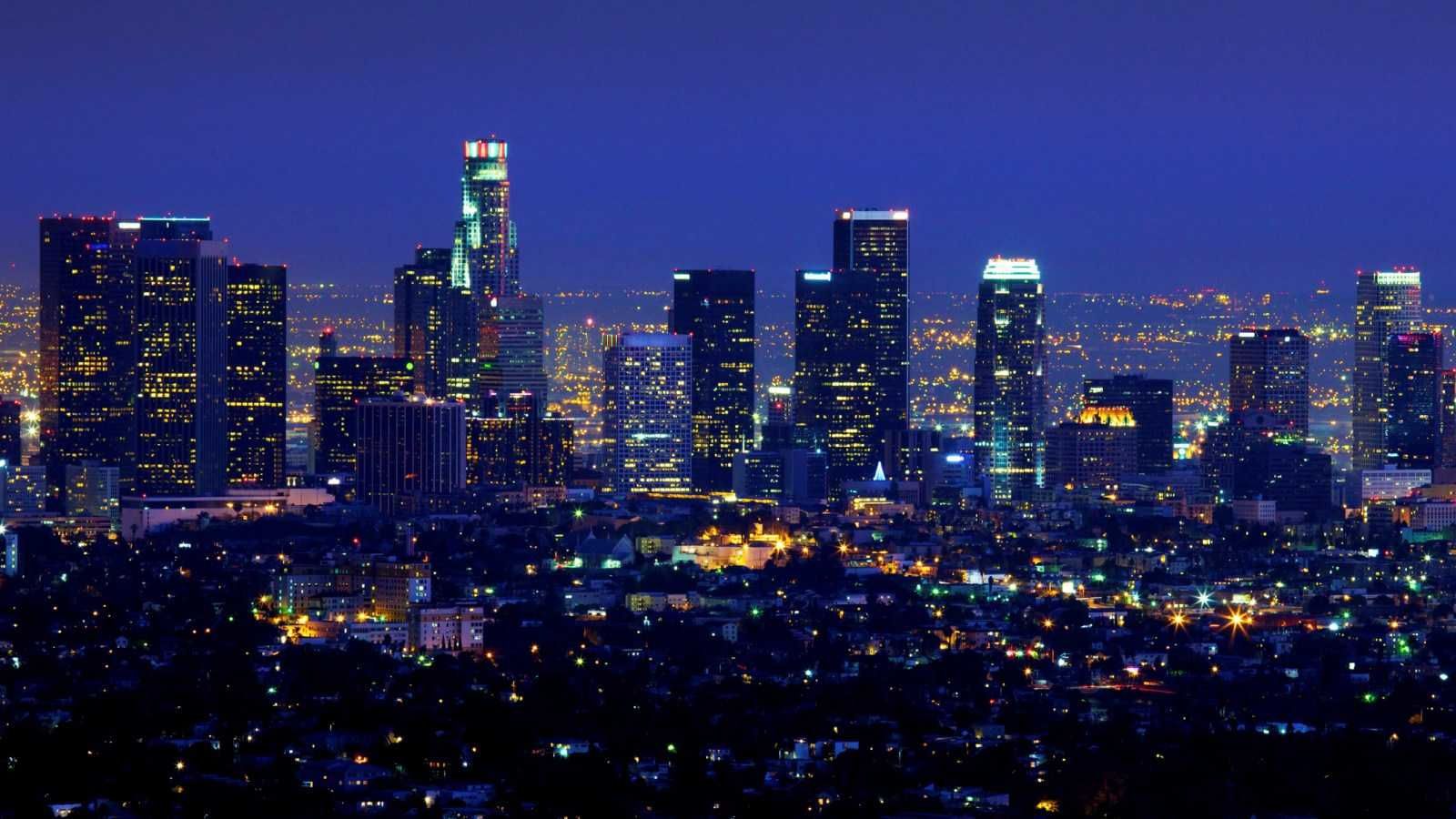 Holiday Party Venue - Los Angeles Night Skyline