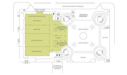 Los Angeles Conference Center Floor Plans - Second Level Floor Plan