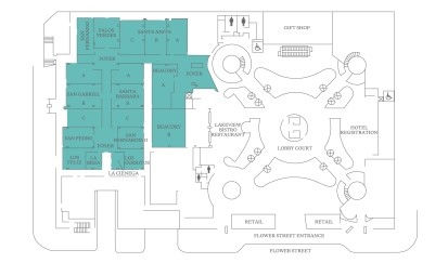 Los Angeles Conference Center Floor Plans - Lobby Level Floor Plan