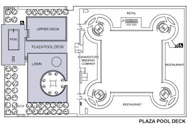 Los Angeles Conference Center Floor Plans - Plaza Pool Deck Floor Plan