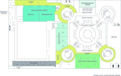 Los Angeles Conference Center Floor Plans - Third Level Floor Plan
